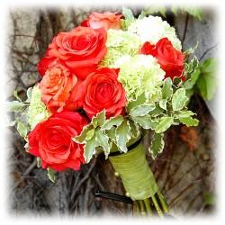 Buchet cununie - Garoafe si Trandafiri