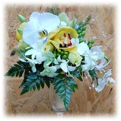 Buchet pentru mireasa - Combinatie Orhidee, idee buchet nunta, mireasa spectaculos