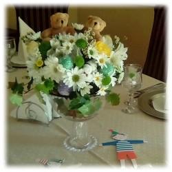 Aranjament de masa pentru botez
